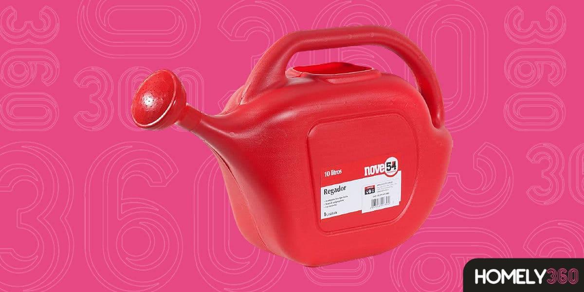 Nove54 Regador Plástico Vermelho